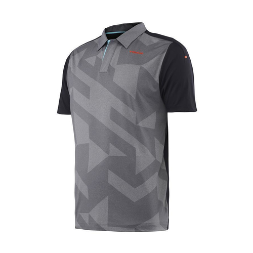 HEAD Vision Camden Polo-Shirt Men grey-black-flame