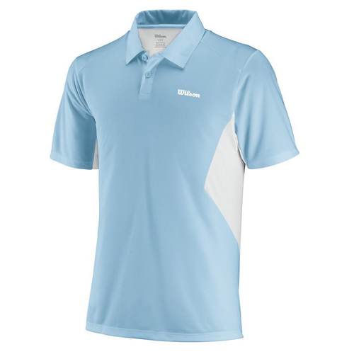 Wilson Great Get Polo Men clear blue-white