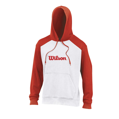 Wilson Fleece Hoody Men white-red
