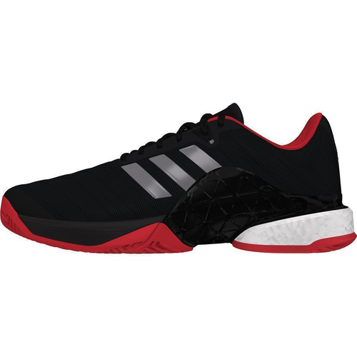 Adidas Barricade 2018 boost Men All Court schwarz-silber-rot 44 2/3