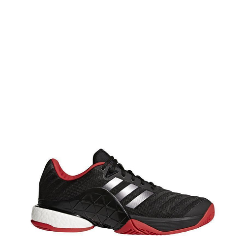 Adidas Barricade 2018 boost Men All Court schwarz-silber-rot 46 2/3