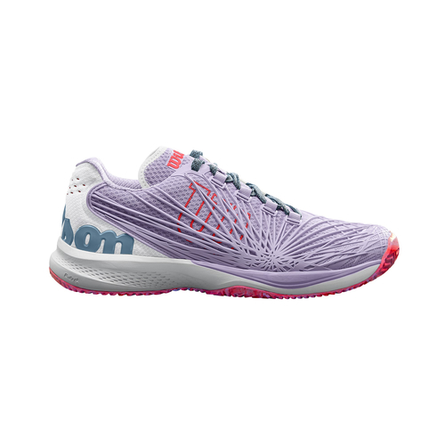 Wilson Kaos 2.0 Women All Court  pastel lilac-white-fiery coral