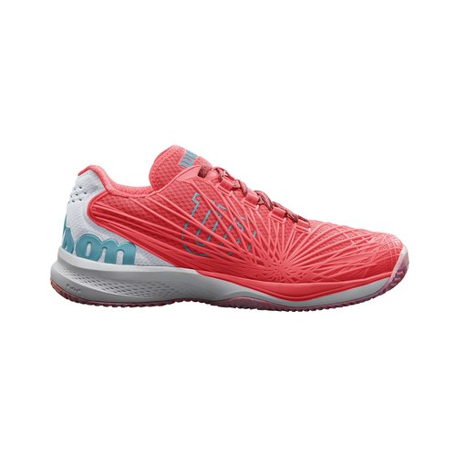 Wilson Kaos 2.0 Women All Court  fiery coral-white-blue curacao 39 2/3