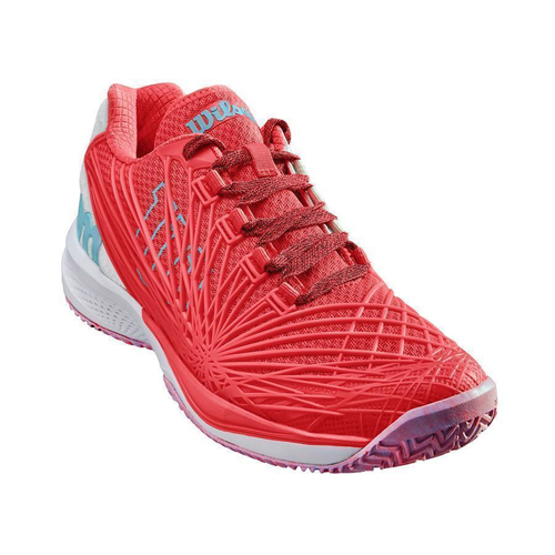 Wilson Kaos 2.0 Women All Court  fiery coral-white-blue curacao 41