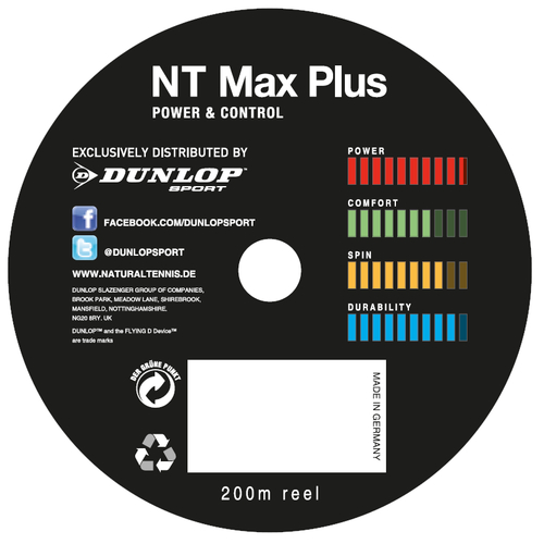 Dunlop NT MAX PLUS ( 200m Rolle ) anthracite