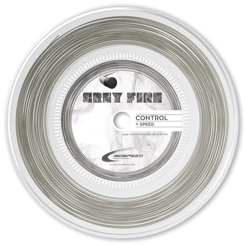 ISO-SPEED Grey Fire ( 200m Rolle ) grau
