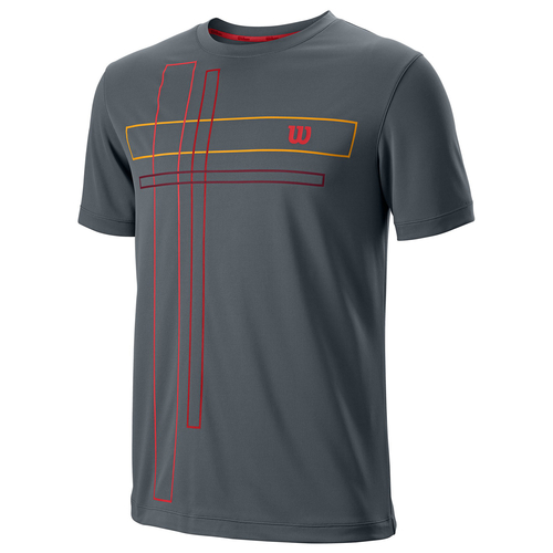 Wilson UwII Vignette Crew T-Shirt Men dark grey