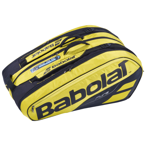 Babolat Pure Aero Racket Holder X12 gelb-schwarz 2019