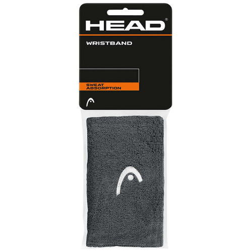 HEAD Wristband 5 anthracite 2er Pack