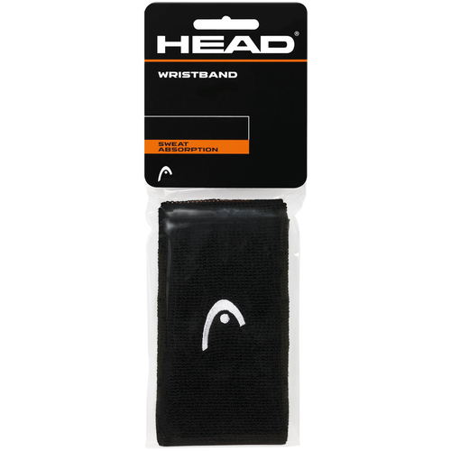 HEAD Wristband 5 black 2er Pack