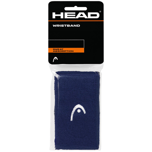 HEAD Wristband 5 navy 2er Pack