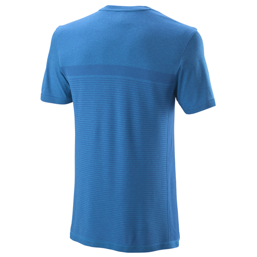 Wilson Competition Seamless Crew T-Shirt Men brilliant blue-imperial blue