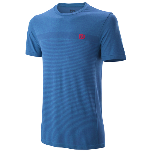 Wilson Competition Seamless Crew T-Shirt Men brilliant blue-imperial blue S