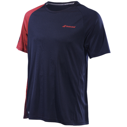 Babolat Performance Crew Neck T-Shirt Men black-salsa