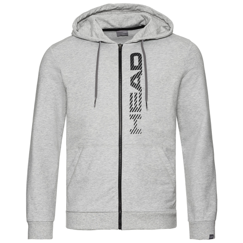 HEAD Club Fynn Hoody Men grey melange-black