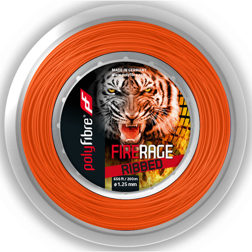 POLYFIBRE Fire Rage Ribbed ( 200m Rolle ) orange