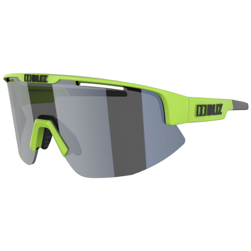 Bliz Matrix Matt Lime Green / Smoke-Silver Mirror