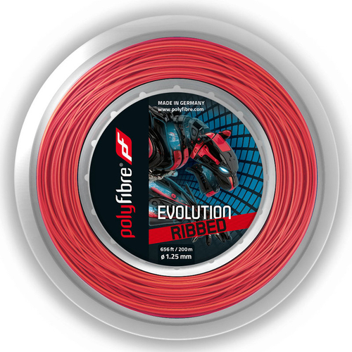 POLYFIBRE Evolution Ribbed ( 200m Rolle ) rot