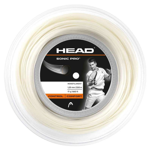HEAD Sonic Pro ( 200m Rolle ) schwarz, weiß od. orange