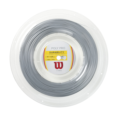 Wilson Poly Pro  ( 200m Rolle ) silber