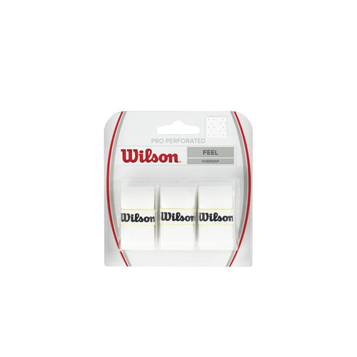 Wilson PRO OVERGRIP perforated ( 3er Pack ) weiß