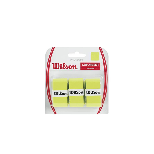 Wilson PRO SOFT OVERGRIP  ( 3er Pack ) schwarz od. orange od. gold od. lime