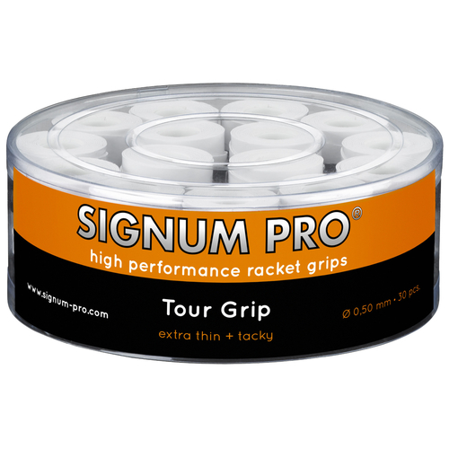 SIGNUM PRO Tour Grip OVERGRIP ( 30er Box ) weiß