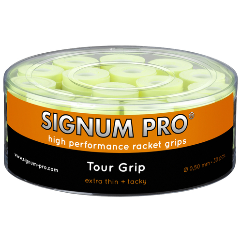 SIGNUM PRO Tour Grip OVERGRIP ( 30er Box ) neongelb
