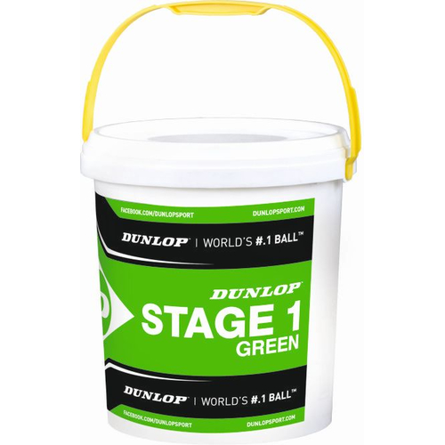 Dunlop Mini Tennis STAGE 1 GREEN 60er Eimer