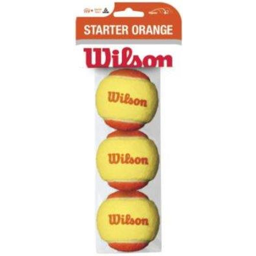 Wilson Starter Game Balls STAGE 2 ORANGE 3er Pack