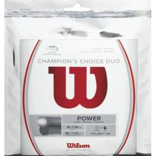 Wilson Champions Choice DUO ( 2 x 6,1 m Sets ) LUXILON Alu Power Rough / WILSON Natural Gut silber / natur
