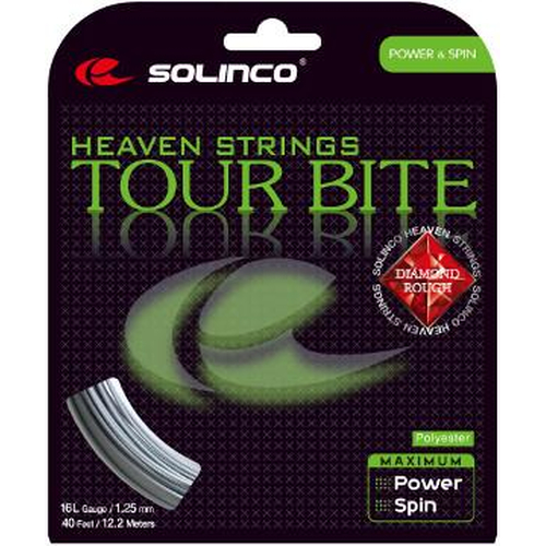 Solinco Tour Bite Diamond Rough ( 12,2m Set ) silber