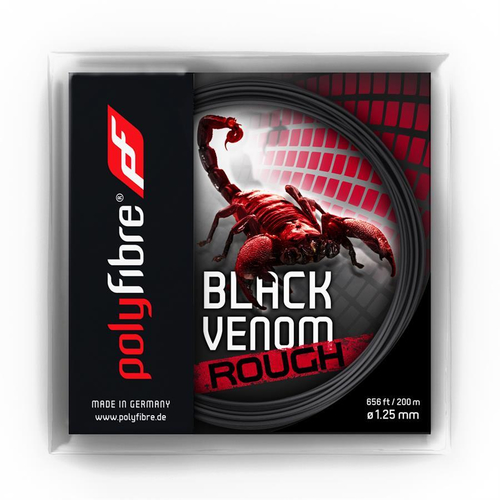 POLYFIBRE Black Venom Rough ( 12,2m Set ) schwarz 1,25 mm