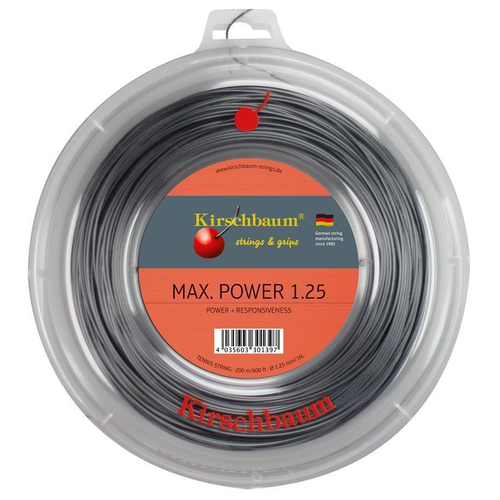 Kirschbaum MAX. POWER ( 200m Rolle ) anthrazit