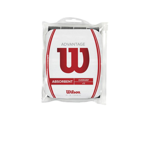 Wilson ADVANTAGE OVERGRIP  ( 12er Pack ) schwarz