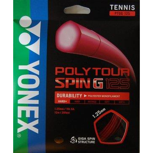 Yonex Poly Tour SPIN G ( 12m Set ) dunkelrot od. orange
