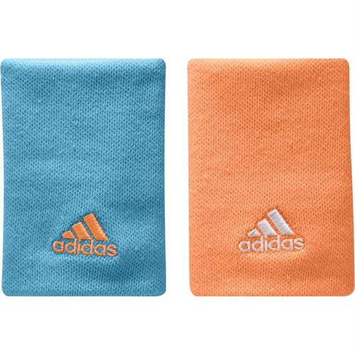 Adidas Poignet Wristband L 2er Pack samba-blue/glow-orange