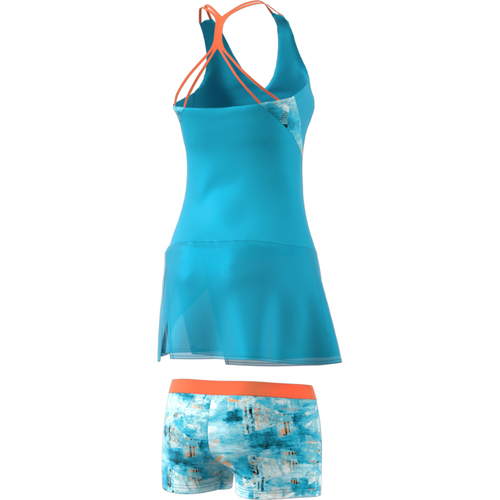Adidas Melbourne Line Dress Women samba blue-mystery blue-glow orange