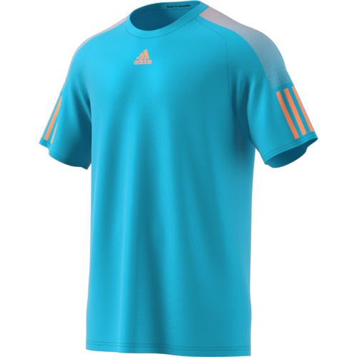 Adidas Barricade Tee Men samba blue-glow orange