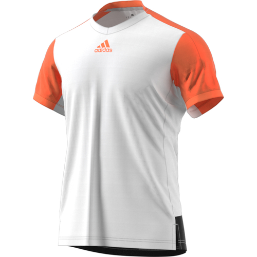Adidas Melbourne Line Tee Men white-glow orange-black